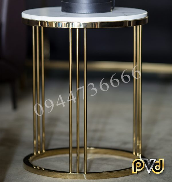 Side table 3 chân mạ titan