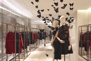 Nhận Thiết kế Thi Công Shop Thời Trang Inox Mạ Vàng