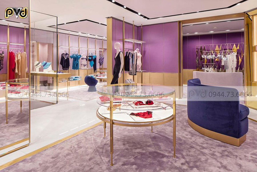 Shop thời trang inox mạ vàng