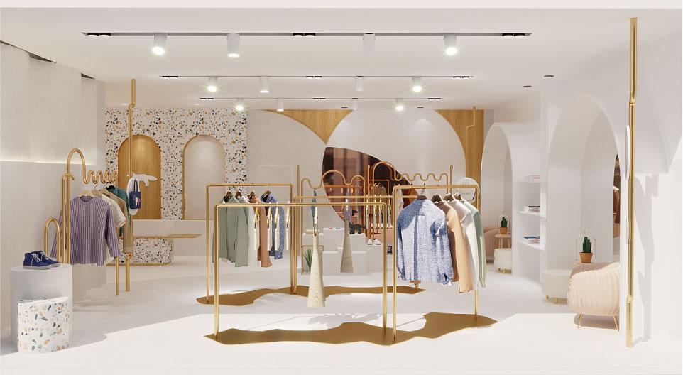 Thiết kế shop thời trang cửa hàng
