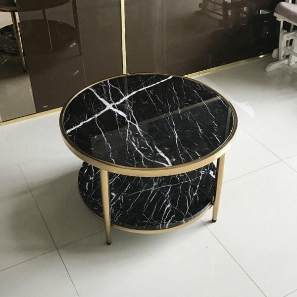bàn trà tròn 2 tầng