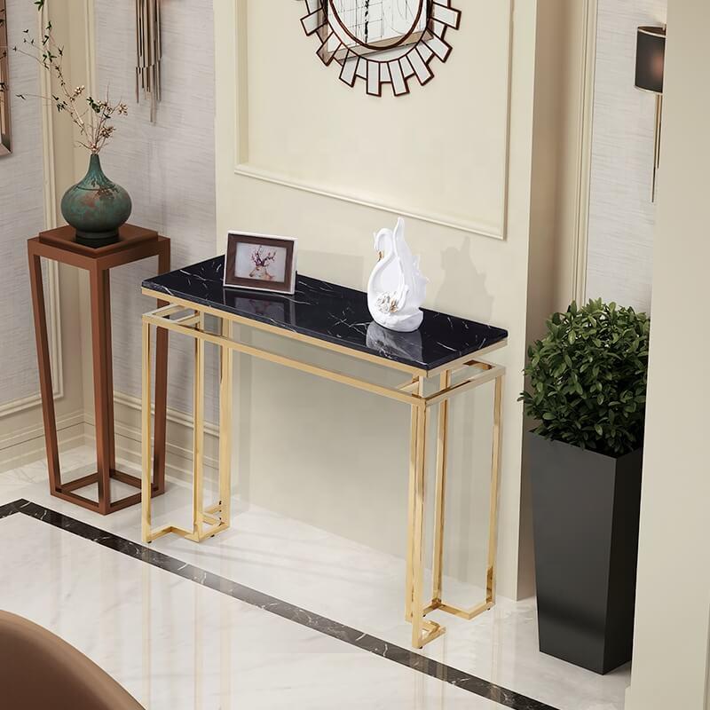 bàn console inox mạ vàng