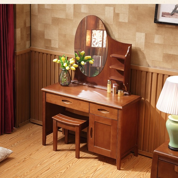 bàn trang điểm hiện đại bằng gỗ