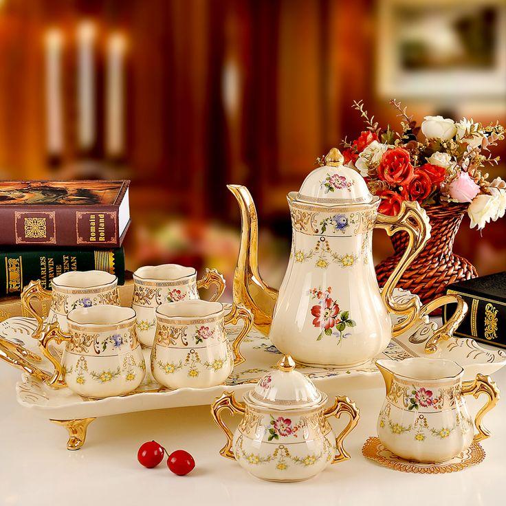 bộ ấm trà trang trí phòng khách
