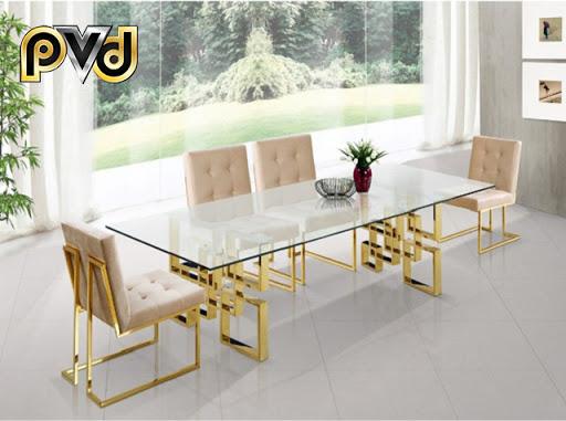 kích thước bàn ăn 8 ghế hình chữ nhật