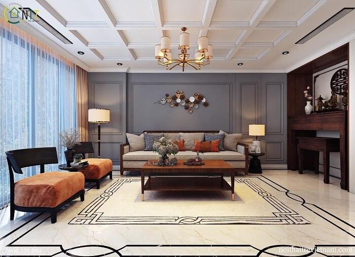 Cách trang trí phòng khách nhà vuông đẹp, tối ưu nhất