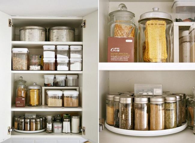 Sử dụng hộp thủy tinh cho phòng bếp