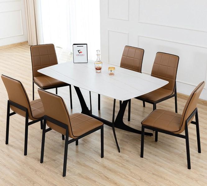 bàn ăn 8 ghế mặt đá