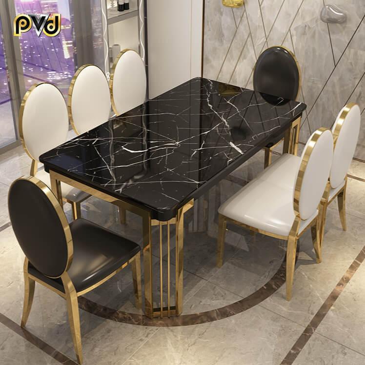 bàn ăn mặt đá nhân tạo