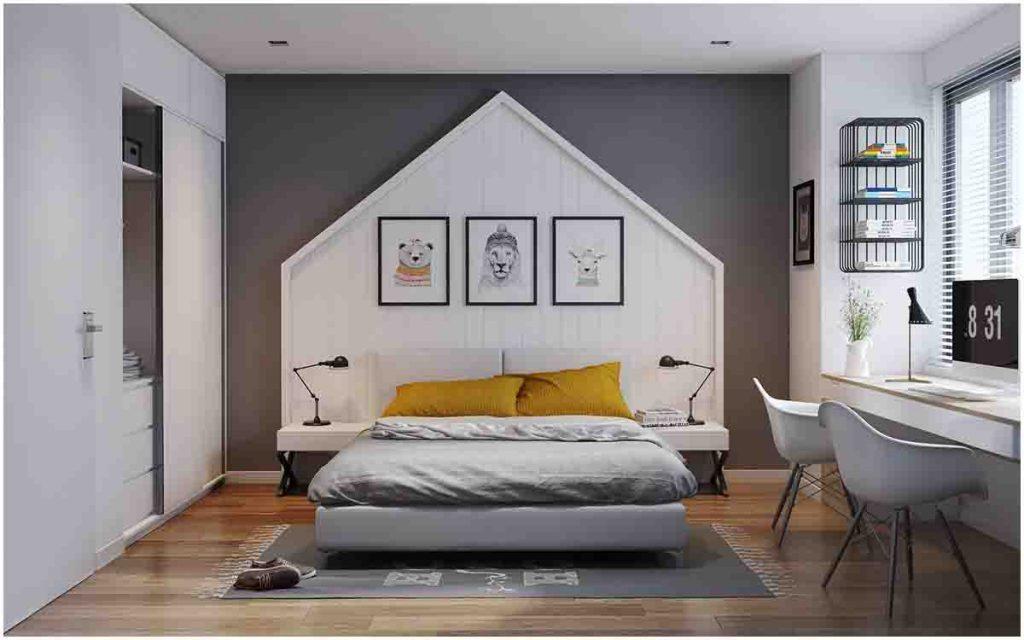 bố trí phòng ngủ nhà cấp 4