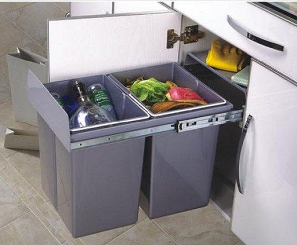 sử dụng thùng rác di động