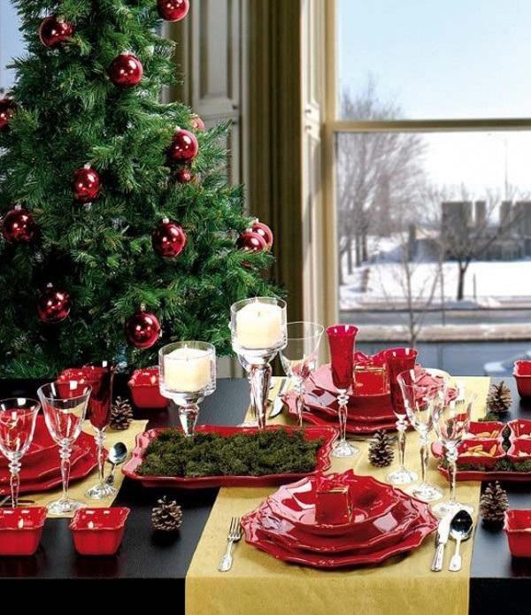 trang trí bàn ăn đẹp ngày giáng sinh