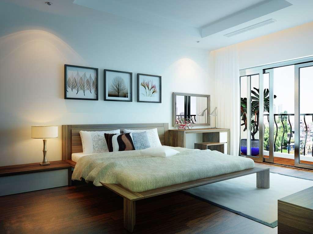 ánh sáng trong trang trí phòng ngủ