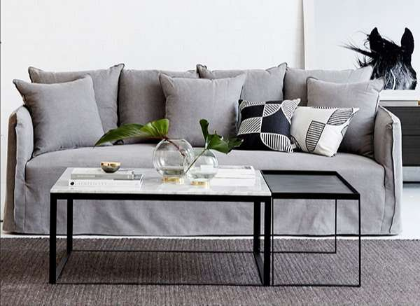 bàn sofa chân sắt
