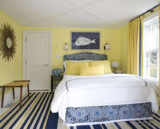 màu vàng cho sơn tường phòng ngủ