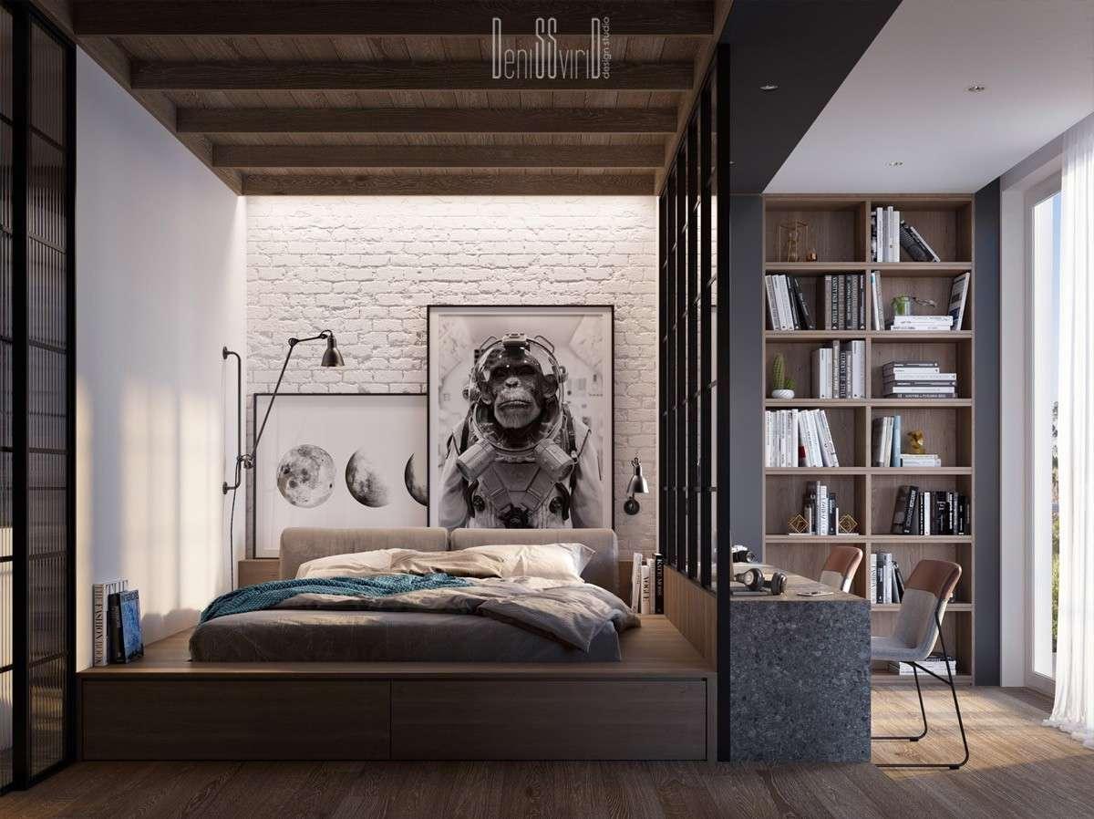 phòng ngủ cho nam giới