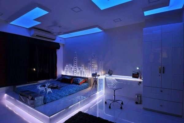 sử dụng Đèn Led âm tường tạo ánh sáng phòng ngủ