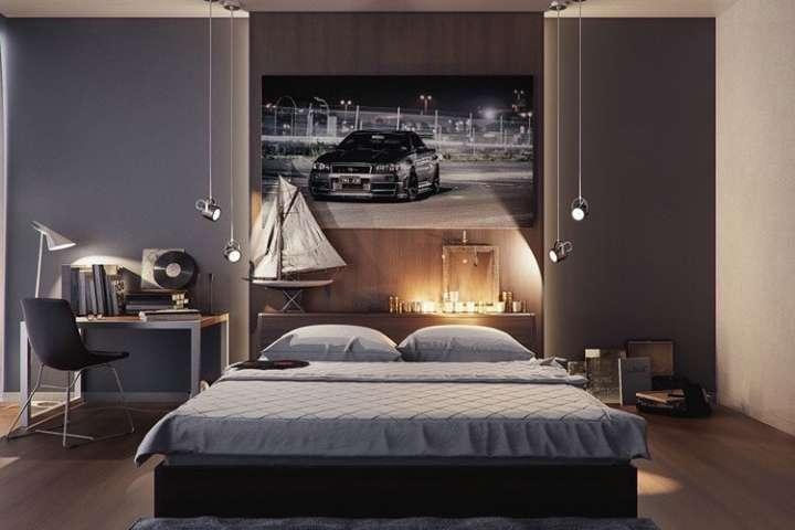 trang trí phòng ngủ cho nam giới