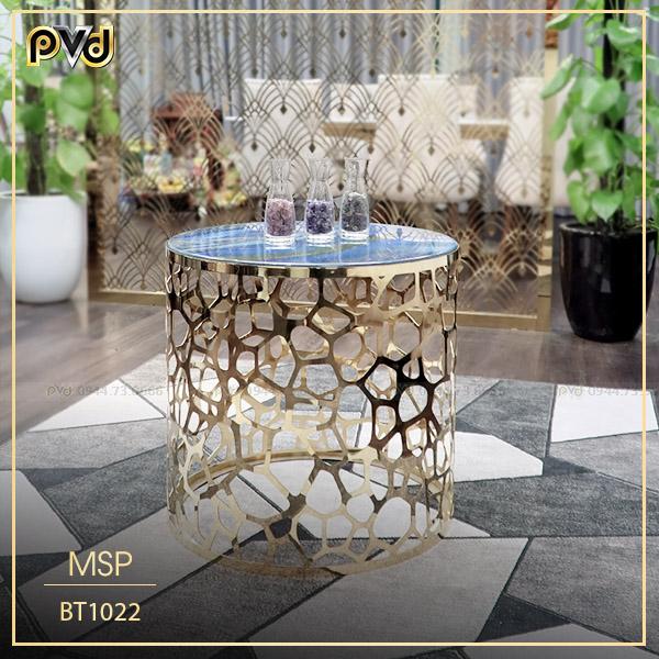 Mẫu bàn trà gỗ tròn