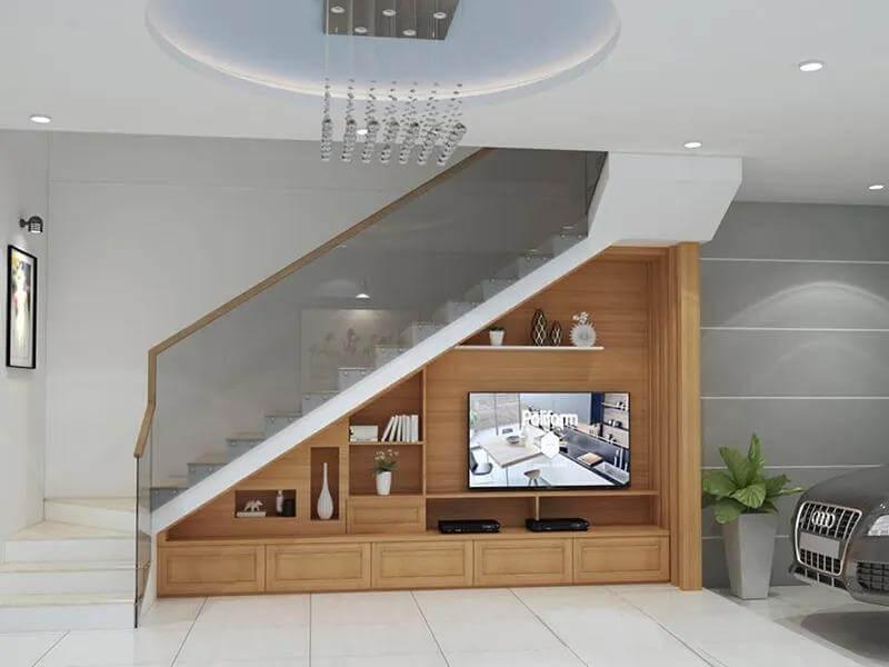 mẫu tủ gầm cầu thang đẹp