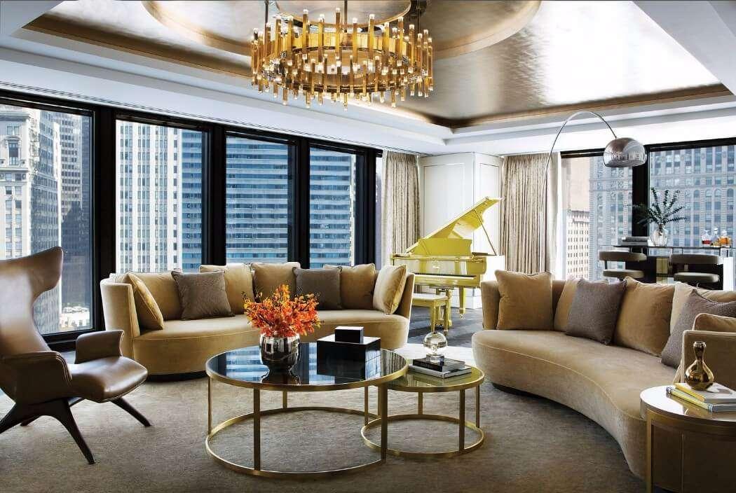 nội thất phòng khách khách sạn hiện đại