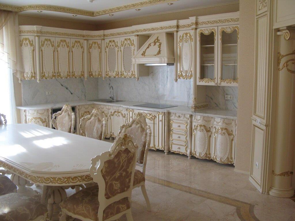 phòng bếp nội thất baroque