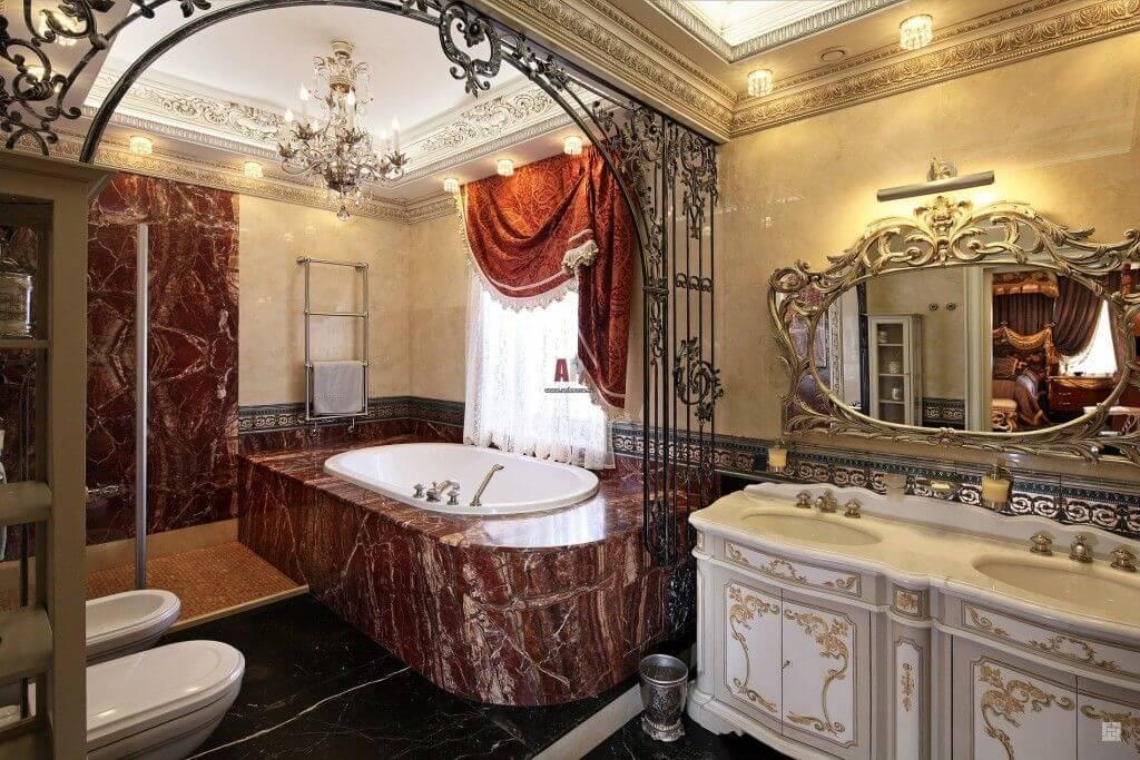 phòng tắm nội thất baroque