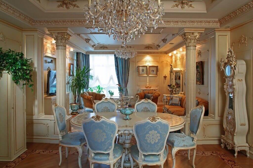trang trí phòng nội thất baroque