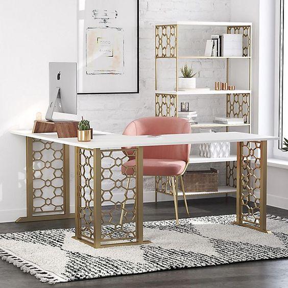bàn làm việc decor đẹp
