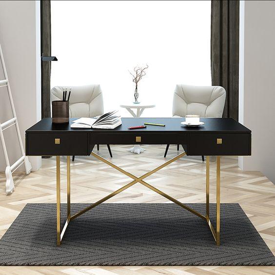 decor bàn làm việc đơn giản