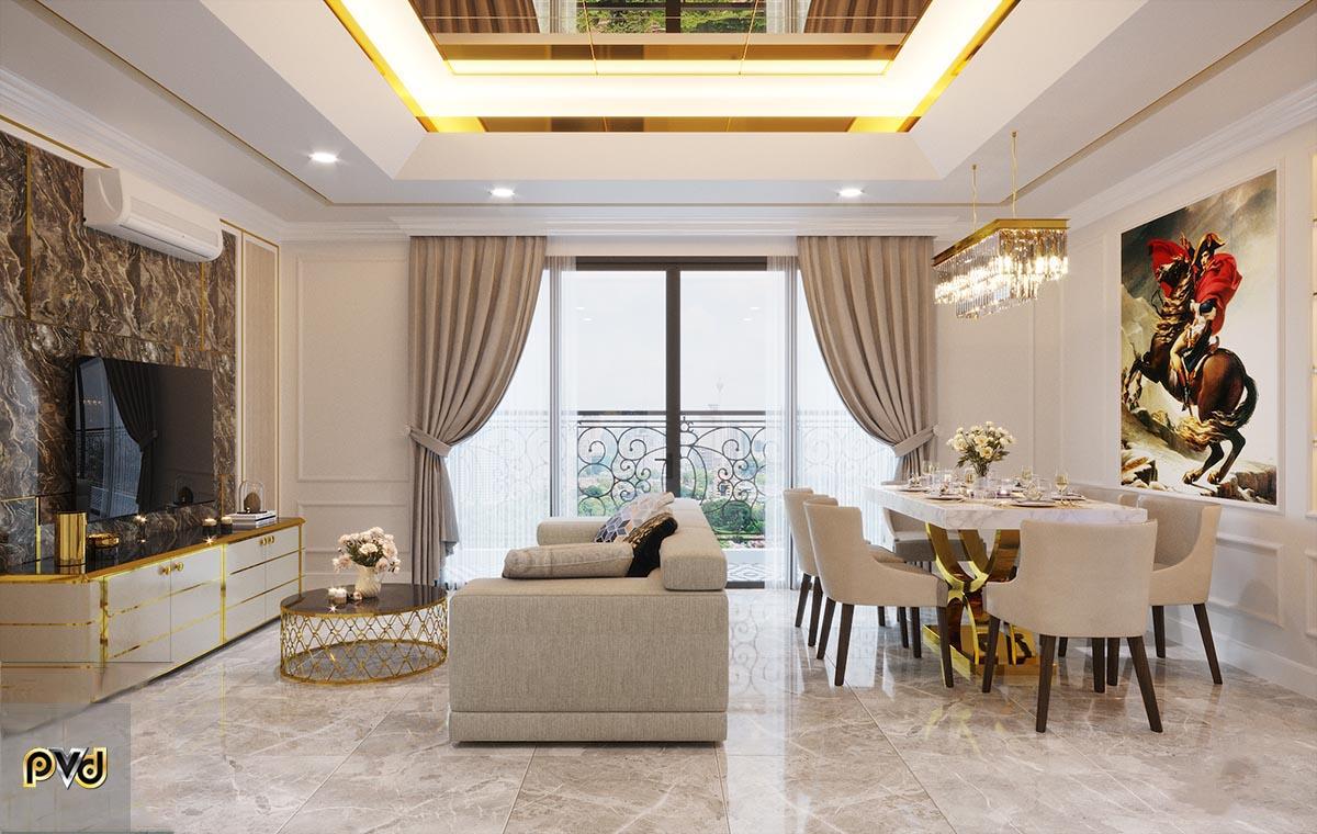 trang trí phòng khách chung cư Vinhomes
