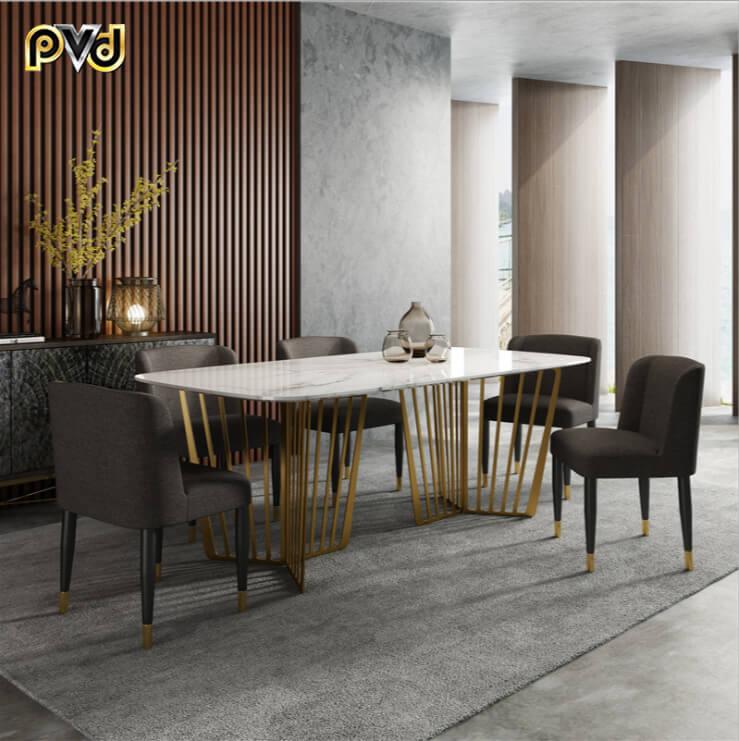 Bộ bàn ăn 6 ghế chung cư
