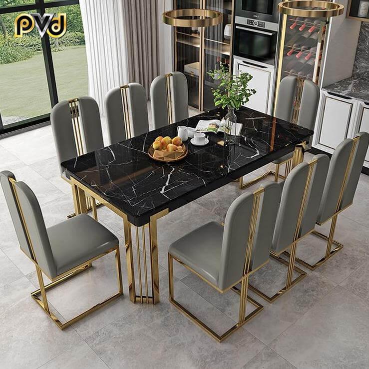 bàn ăn chung cư 8 ghế cao cấp