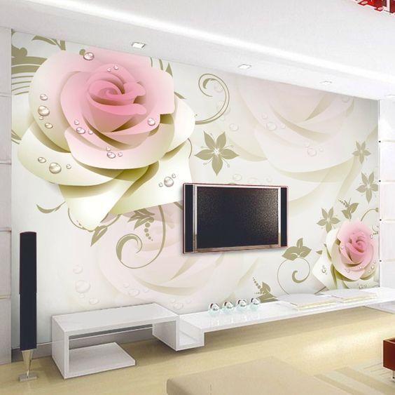 trang trí với giấy dán tường